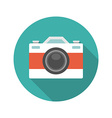 Flat Photographer Professional Retro Photo Camera vector image