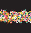flowers seamless border lots blooming vector image vector image