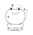 frog with flies farm animal isolated icon on white vector image
