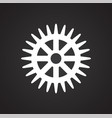 gear icon on black background for graphic and web vector image