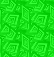 Green seamless rectangle pattern background vector image vector image