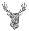 hand-drawn portrait a deer in style of vector image