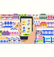 hand holding phone with internet pharmacy shop vector image