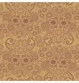 henna pattern vector image vector image