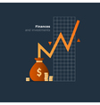 Index fund investment concept budget spending vector image vector image