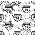 Interstate 73 pattern grunge monochrome vector image vector image