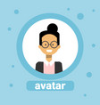 japanese woman avatar businesswoman profile icon vector image vector image