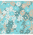 Light floral chamomile retro vintage vector image
