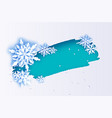 magic snowflake merry christmas and happy new vector image vector image