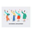 men women waving hand to colleagues set vector image vector image