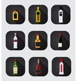 Modern Flat Dink Icon Set for Web and Mobile vector image vector image