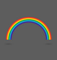 modern rainbow gradient isolated on gray vector image vector image