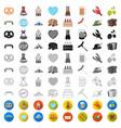 oktober festival in munich cartoon icons in set vector image vector image