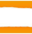 Orange Rip Paper vector image