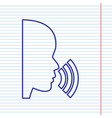 people speaking or singing sign navy line vector image