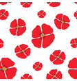 poppy seamless pattern red poppies on white vector image vector image