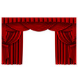 red stage curtain realistic theater scene vector image vector image