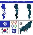 seo district busan city south korea vector image vector image