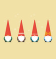 set of little santa claus vector image vector image