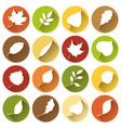 Set of round flat icons vector image vector image