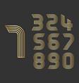 set of ten numbers form zero to nine vector image vector image