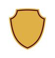 shield flat icon emblem vector image vector image
