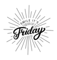 Smile its friday hand written lettering vector image vector image
