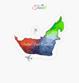Travel around the world United Arab Emirates vector image vector image
