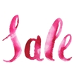 Watercolor Sale Calligraphy Script vector image vector image