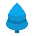 xmas blue fir tree icon isometric style vector image