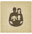 young family concept father and mother with vector image vector image