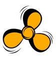 fan icon cartoon vector image