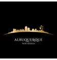 Albuquerque New Mexico city skyline silhouette vector image