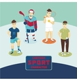 Sports characters set Cartoon players vector image