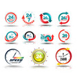 24 hours open customer service collection vector image