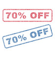 70 percent off textile stamps vector image vector image