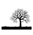Alone tree vector image vector image