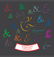 ampersand calligraphy vector image vector image