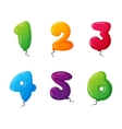 Balloon numbers set vector image vector image