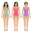 beautiful asian women vector image vector image