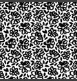 black abstract leaves and flowers seamless pattern vector image