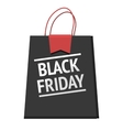 Black Friday bag modern design badge sales vector image