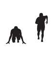 Black silhouette of runner vector image