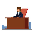 business female receptionist cartoon flat vector image vector image