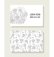 Card with hand drawn floral elements and photo vector image vector image