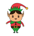 color image cartoon full body christmas elf with vector image vector image
