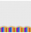 colored pencils down line in shape of wave vector image vector image