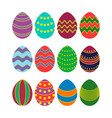 colored silhouettes of easter eggs vector image vector image