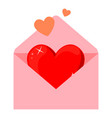 colorful cartoon pink envelope with heart vector image