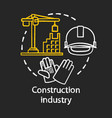 construction industry chalk concept icon building vector image vector image